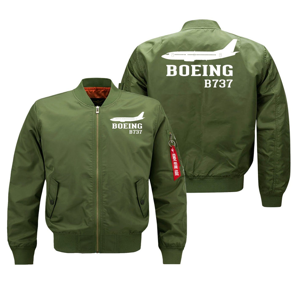 Boeing 737 Printed Pilot Jackets (Customizable) Pilot Eyes Store Green (Thin) M (US XS)