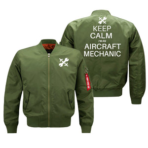 Keep Calm I'm an Aircraft Mechanic Designed Bomber Jackets (Customizable) Pilot Eyes Store Green (Thin) M (US XS)