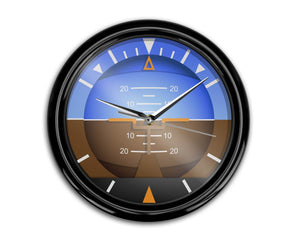 Airplane Instruments (Gyro Horizon2) Designed Wall Clocks Aviation Shop