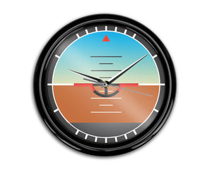 Airplane Instruments (Gyro Horizon) Designed Wall Clocks Aviation Shop