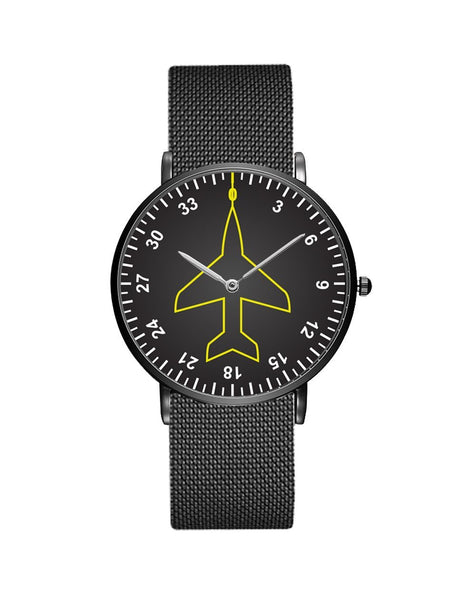 Airplane Instrument Series (Heading) Stainless Steel Strap Watches