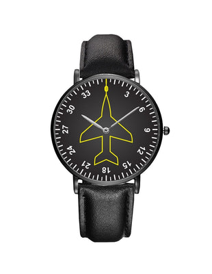 Airplane Instrument Series (Heading) Leather Strap Watches