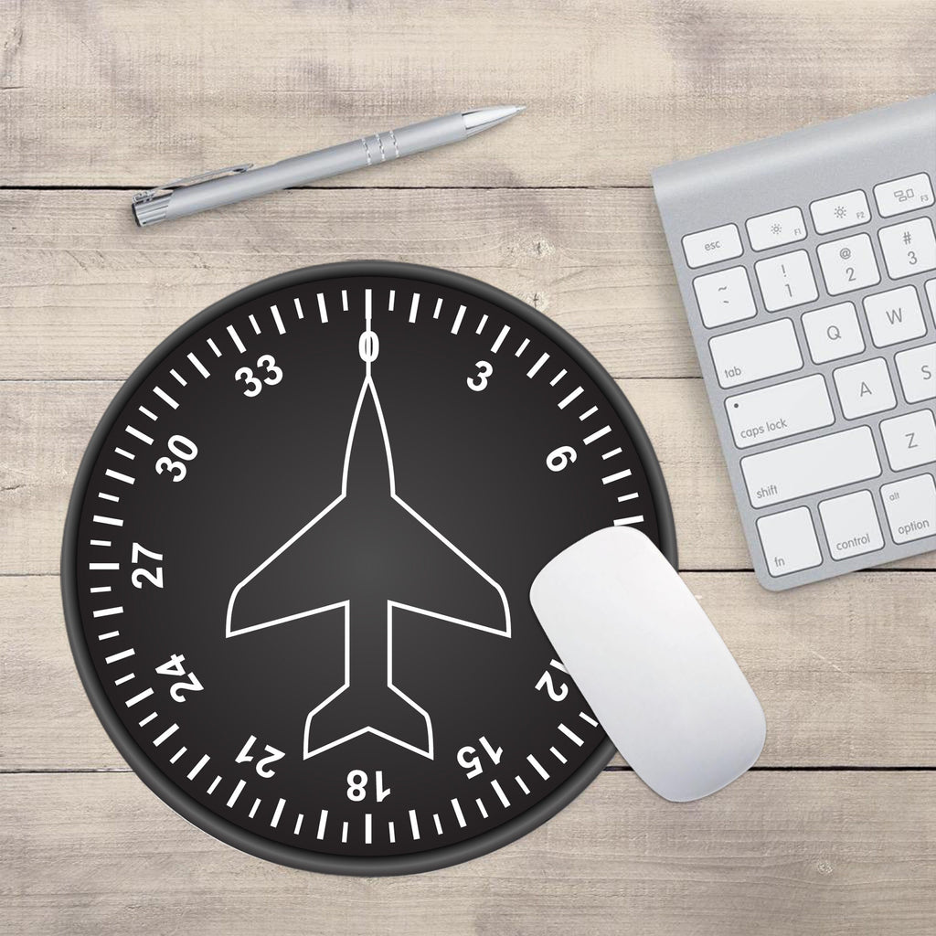 "Airplane Instrument Series ""Heading 2"" Designed Mouse Pads"