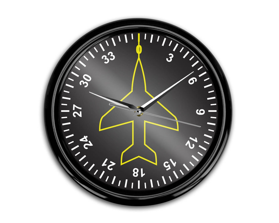 Airplane Instruments (Heading) Designed Wall Clocks Aviation Shop