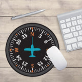 "Airplane Instrument Series ""Heading"" Designed Mouse Pads"