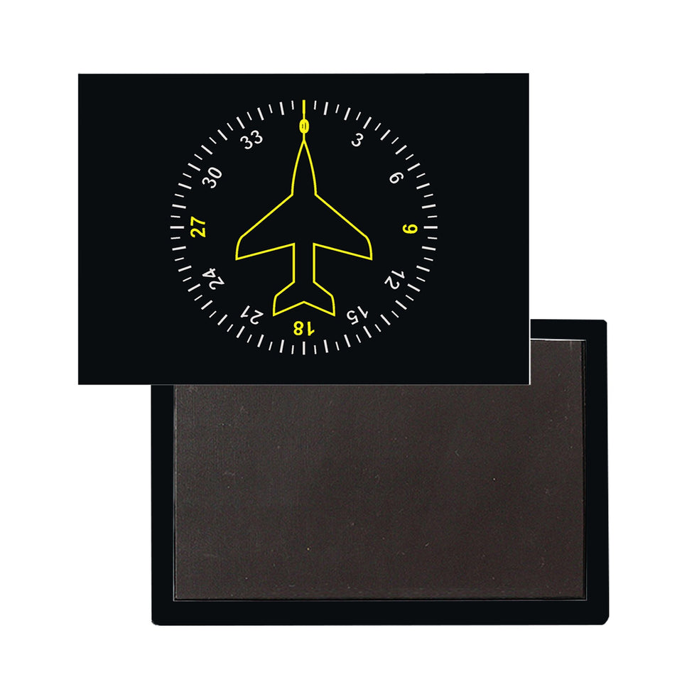 "Airplane Instrument Series ""Heading"" Designed Magnet Pilot Eyes Store"