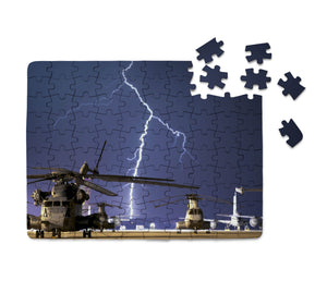 Helicopter & Lighting Strike Printed Puzzles Aviation Shop