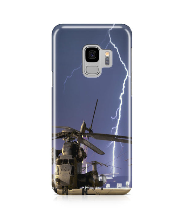Helicopter & Lighting Strike Printed Samsung J Cases