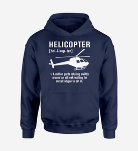 Helicopter [Noun] Designed Hoodies