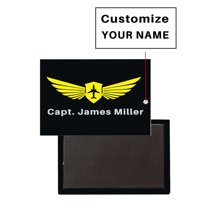 Customizable Name & Badge (Horizontal) Designed Magnets Pilot Eyes Store