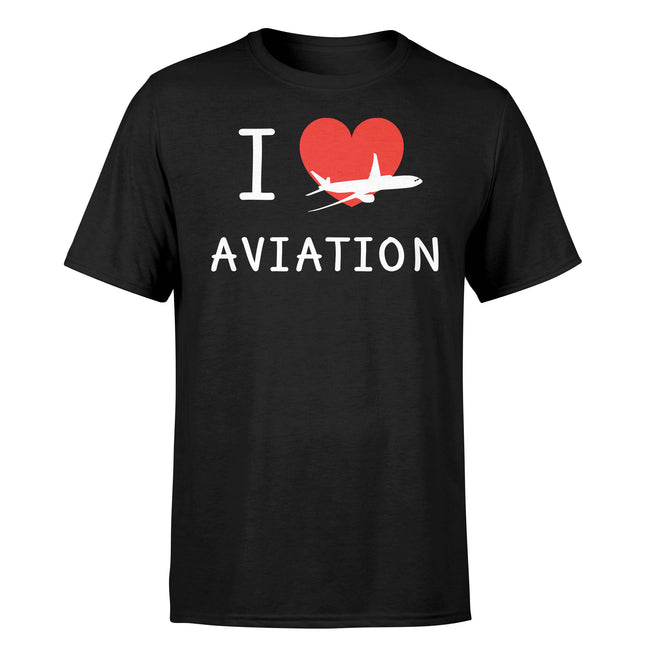 I Love Aviation Designed T-Shirts