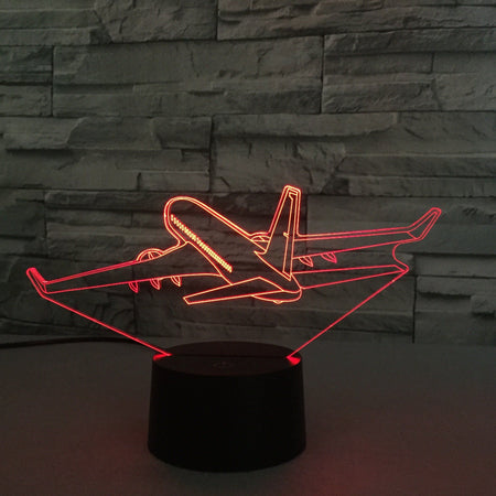 Cruising Boeing 737 Designed 3D Lamp Aviation Shop
