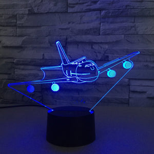 Boeing 747 Classic from Front Designed 3D Lamp Aviation Shop