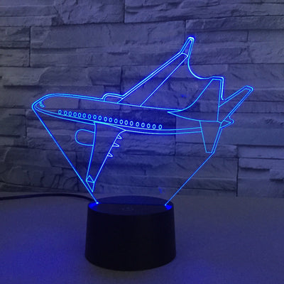 Turning Airplane Designed 3D Lamp