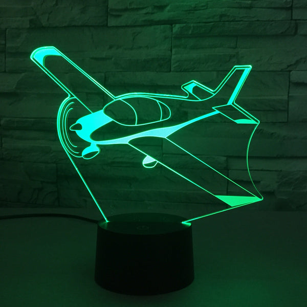 Beautiful Propeller Designed 3D Lamp