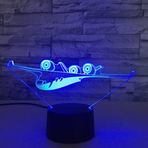 Futuristic Airplane Designed 3D Lamp Aviation Shop