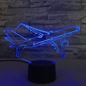 Amazing Cruising Aircraft Designed 3D Lamp Aviation Shop