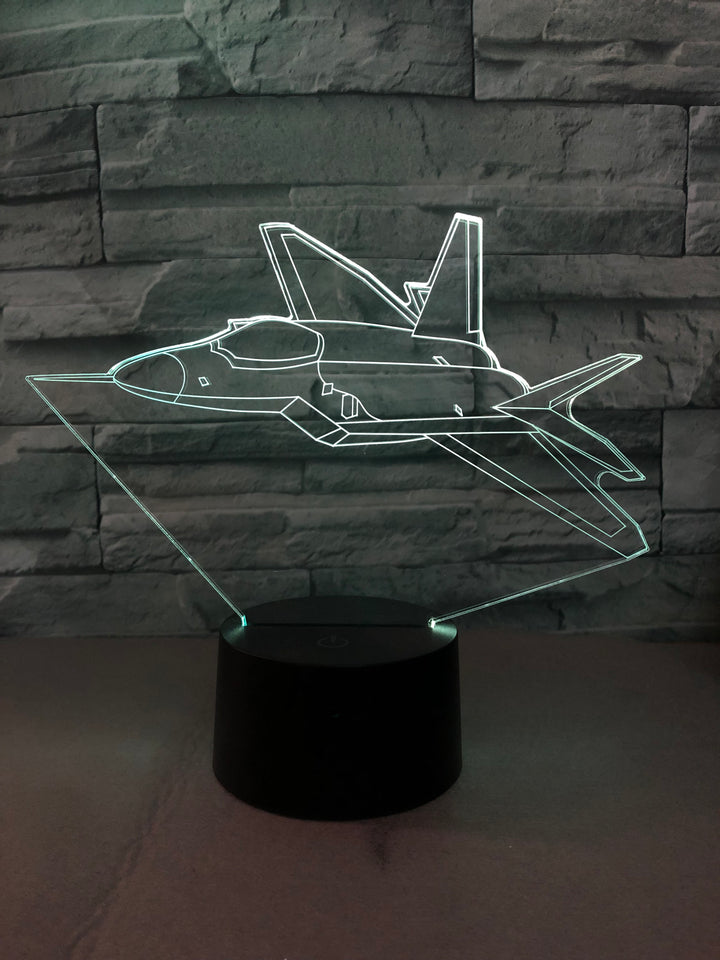 Departing Amazing Fighter Jet Designed 3D Lamp