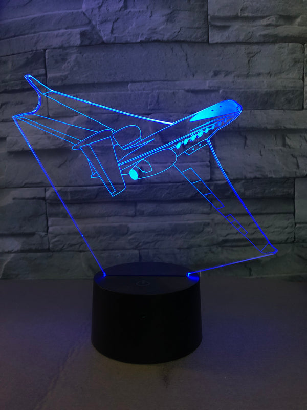 Cruising Fantastic Business Jet Designed 3D Lamp