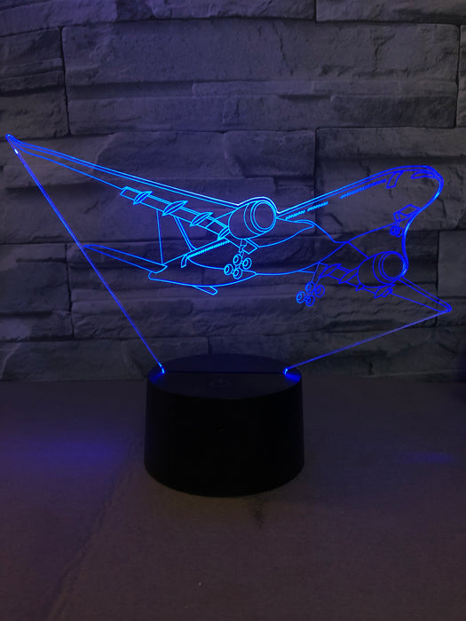 Departing Airbus A330 Designed 3D Lamp