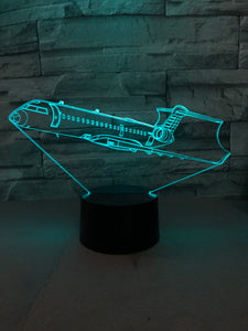 Departing Business Jet Designed 3D Lamp