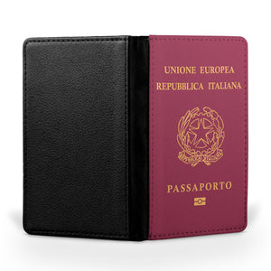 Italian Passport Designed Passport & Travel Cases