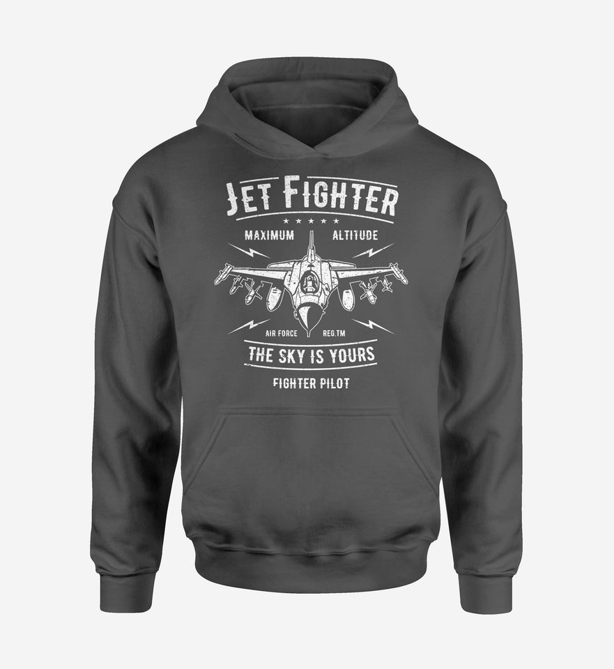 Jet Fighter - The Sky is Yours Designed Hoodies