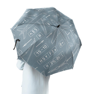 Jet Planes & Airport Signs Designed Umbrella