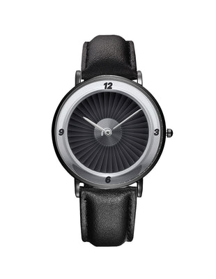 Jet Engine Designed Leather Strap Watches