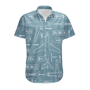 Jet Planes & Airport Signs Designed 3D Shirts