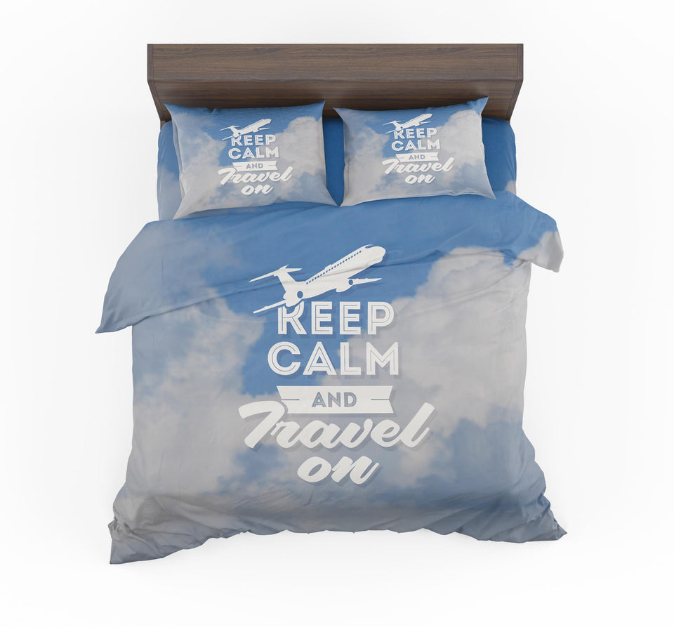 Keep Calm and Travel On Designed Bedding Sets