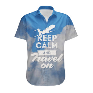 Keep Calm and Travel On Designed 3D Shirts