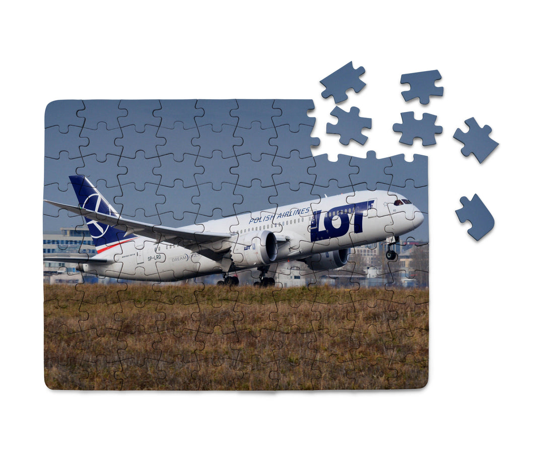 LOT Polish Airlines Boeing 787 Printed Puzzles Aviation Shop