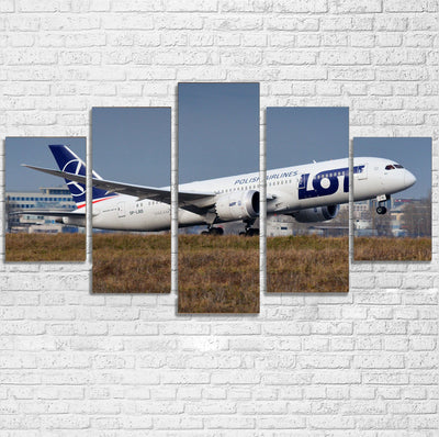 LOT Polish Airlines Boeing 787 Printed Multiple Canvas Poster