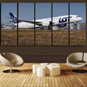 LOT Polish Airlines Boeing 787 Printed Canvas Prints (5 Pieces) Aviation Shop