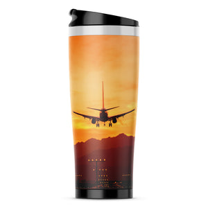 Landing Aircraft During Sunset Printed iPhone Cases