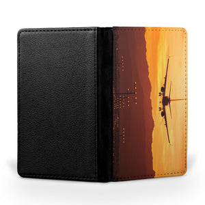 Landing Aircraft During Sunset Printed Passport & Travel Cases