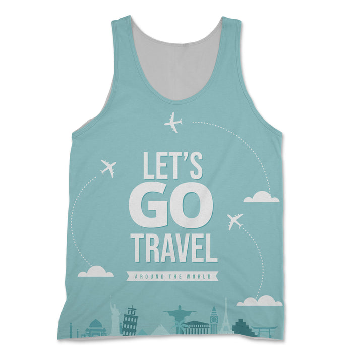 Let's Go Travel Around The World Designed 3D Tank Tops