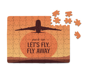 Let's Fly Away Printed Puzzles Aviation Shop
