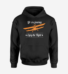 Life is a journey Enjoy the Flight Designed Hoodies