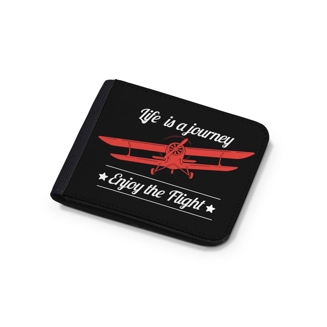Life is a journey Enjoy the Flight Designed Wallets