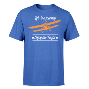 Life is a Journey, Enjoy The Flight Designed T-Shirts