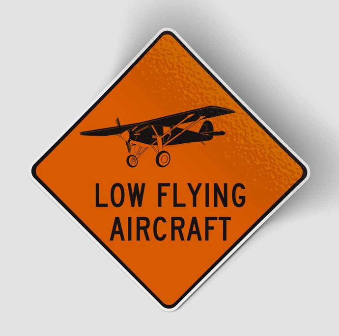 Low Flying Aircraft Designed Stickers