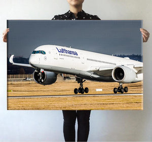 Lufthansa's A350 Printed Posters Aviation Shop