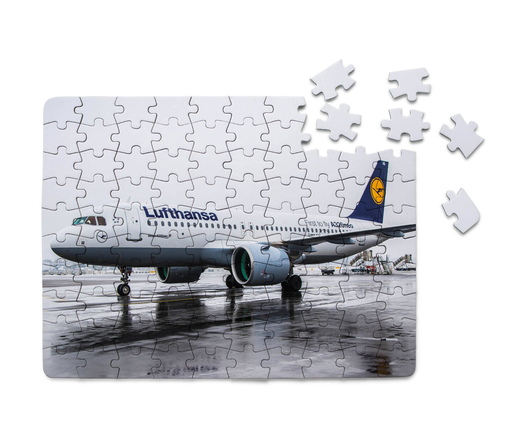 Lufthansa's A320 Neo Printed Puzzles Aviation Shop