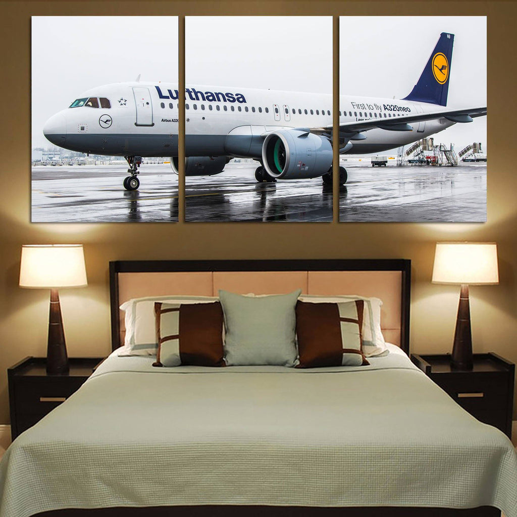 Lufthansa's A320 Neo Printed Canvas Posters (3 Pieces)