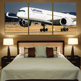 Lufthansa's A350 Printed Canvas Posters (3 Pieces)
