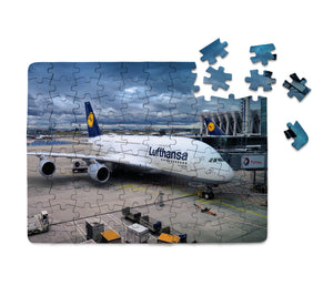 Lufthansa's A380 At the Gate Printed Puzzles Aviation Shop