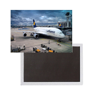 Lufthansa's A380 At the Gate Printed Magnet Pilot Eyes Store