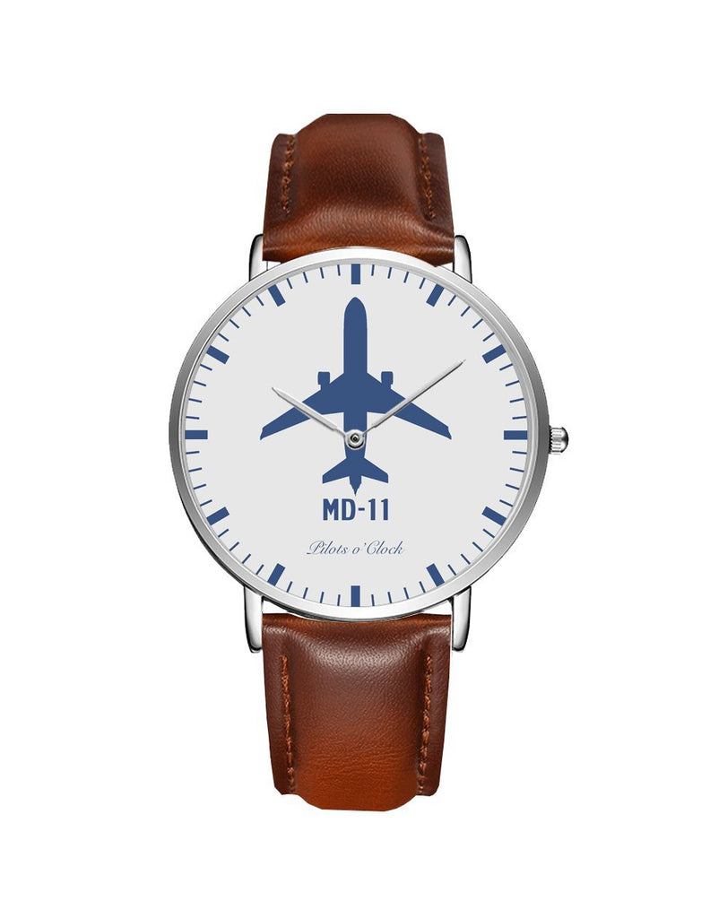 McDonnell Douglas MD-11 Leather Strap Watches